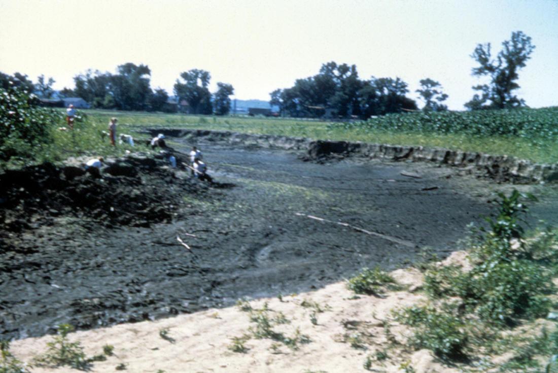 1954 Flood At Cahokia Mounds Site
