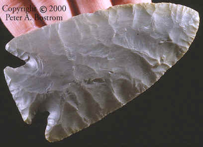 Cast of Hardin Barbed point from Calhoun Co., Illinois.