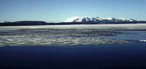View of the Bering Strait and the mountains of Siberia.
