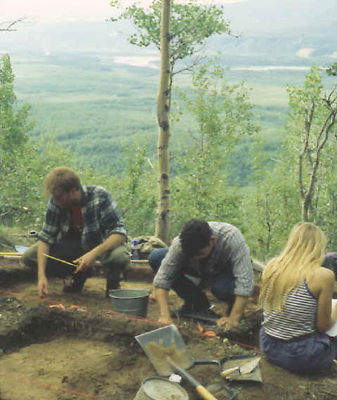 Excavating the Moose Creek site, 1996