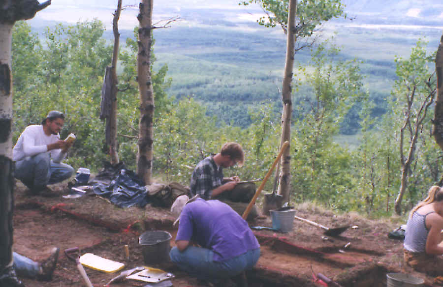 1996 excavation of the Moose Creek site.