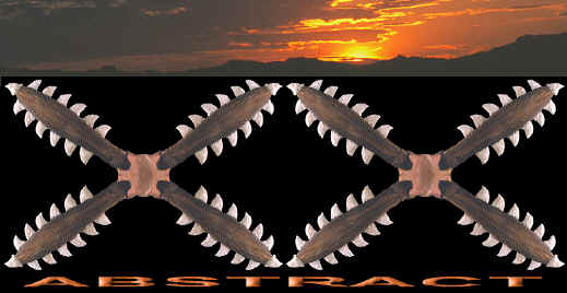 Sharks teeth club abstract picture.