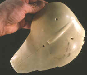 Cast of a shell mask from South Dakota.